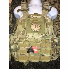 "Condor Multicam 3% Map Pouch Plate Carrier With Molle and (2) 10 x 12"" Certified AR500 NIJ Compliant Plates"