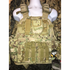 "Condor Multicam Admin Pouch (4) Mag AR/Pistol Kangaroo and (2) 10 x 12"" Certified AR500 NIJ Compliant Plates"