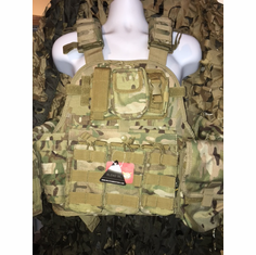 "Condor Multicam Admin Pouch Plate Carrier With Molle and (2) 10 x 12"" Certified AR500 NIJ Compliant Plates"