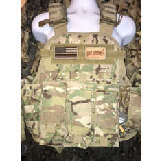"Condor Multicam Got Ammo? Plate Carrier With AK Molle and (2) 10 x 12"" Certified AR500 NIJ Compliant Plates"