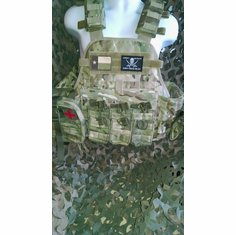 "Condor Multicam Plate Carrier With Molle and (2) 10 x 12"" Certified AR500 NIJ Compliant Plates"