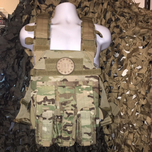 """Condor Multicam Sentry 3% Plate Carrier With Molle and (2) 10 x 12"""" Certified AR500 NIJ Compliant Plates"""