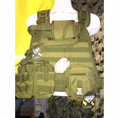 "Condor OD Plate Carrier With Molle and (2) 10 x 12"" Certified AR500 NIJ Compliant Plates"