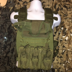 "Condor OD Sentry Plate Carrier With Molle and (2) 10 x 12"" Certified AR500 NIJ Compliant Plates"