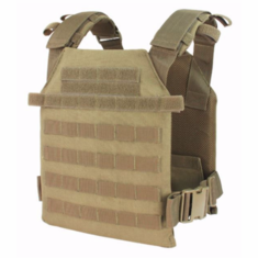 "Condor Sentry Coyote Plate Carrier With (2) 10 x 12"" Certified AR500 NIJ Compliant Plates"