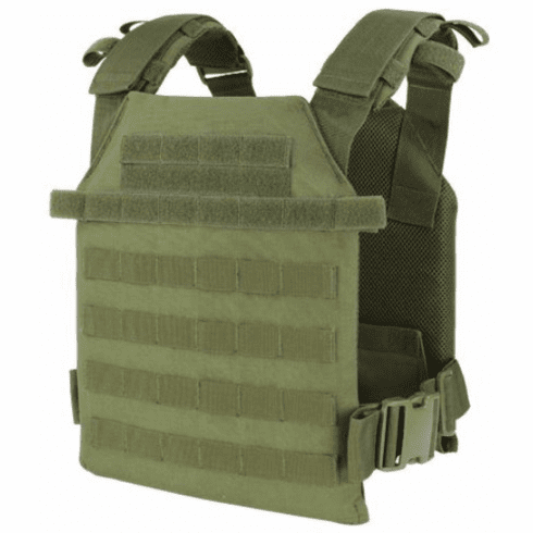 """Condor Sentry OD Plate Carrier With (2) 10 x 12"""" Certified AR500 NIJ Compliant Plates"""