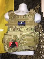 "Condor Sentry ""Warrior"" Multicam Plate Carrier With Molle and (2) 10 x 12"" Certified AR500 NIJ Compliant Plates & New TACO Pouch!"