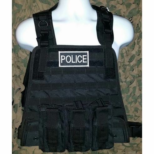 Condor Tactical Black Plate Carrier With Molle (Carrier & Molle Only)