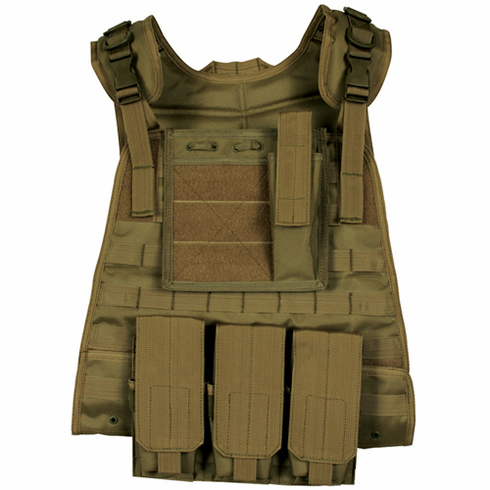 Fox Basic Plate Carrier Coyote & (2) Level III NIJ Certified Plates