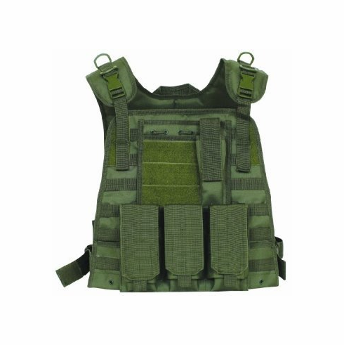 Fox Basic Plate Carrier OD & (2) Level III NIJ Certified Plates