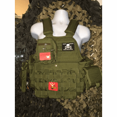 "LASD Operator Package, (2) 10"" x 12"" AR500 Steel Plates & Molle"