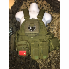 "Rothco 3% #2 Tactical OD Operator Plate Carrier Includes (2) 10"" x 12"" Certified AR500 NIJ Compliant Plates & 6"" x 6"" Side Plates, All MOLLE Included As Shown!"