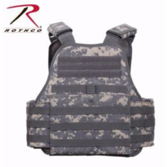 "Rothco ACU Plate Carrier Includes (2) 10"" x 12"" Certified AR500 NIJ Compliant Plates!"