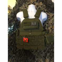 "Rothco Get Hard Or Die Tactical OD Operator Plate Carrier Includes (2) 10"" x 12"" Certified AR500 NIJ Compliant Plates & 6"" x 6"" Side Plates, All MOLLE Included As Shown!"