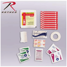 Rothco Military Zipper First Aid Kit Contents