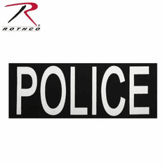 Rothco Police Patch With Hook Back Large