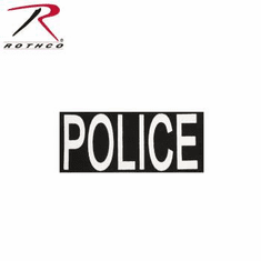 Rothco Police Patch With Hook Back Small