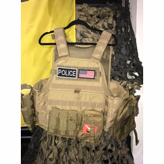"Rothco Police Plate Carrier & Molle with VISM 10x12"" Level 3+ Plates"