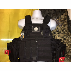 "Rothco SWAT Medic (2) 10x12"" Comfort Curved Plates & Molle Pouches"