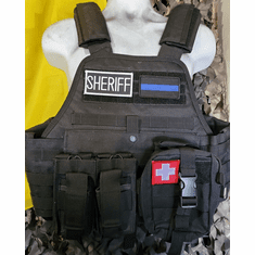"Rothco Tactical Sheriff Operator Plate Carrier, Molle and (2) 10"" x 12"" Certified AR500 NIJ Plates"