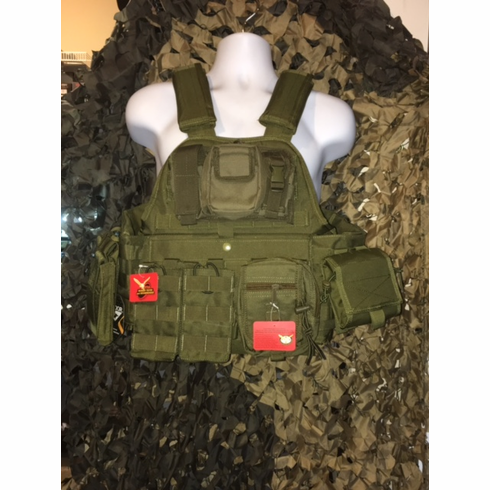 "Rothco Tactical Admin OD Operator Plate Carrier Includes (2) 10"" x 12"" Certified AR500 NIJ Compliant Plates & 6"" x 6"" Side Plates, All MOLLE Included As Shown!"