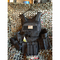 "Rothco Tactical Black Operator Plate Carrier Includes (2) 10"" x 12"" Certified AR500 NIJ Compliant Plates & 6"" x 6"" Side Plates, All MOLLE Included As Shown!"