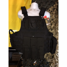 "Rothco Tactical Carrier & 10""x12"" AR500 Level 3 Plates & All Molle Shown AK Version & Side Plates"