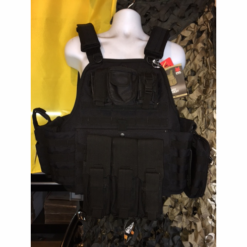 """Rothco Tactical Carrier & 10""""x12"""" AR500 Level 3 Plates & All Molle Shown AK Version & Side Plates"""
