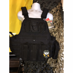 "Rothco Tactical Carrier & 10""x12"" AR500 Level 3 Plates & All Molle Shown AR Version & Side Plates"