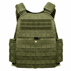 "Rothco Tactical OD Operator Plate Carrier With Molle and (2) 10 x 12"" Certified AR500 NIJ Compliant Plates"
