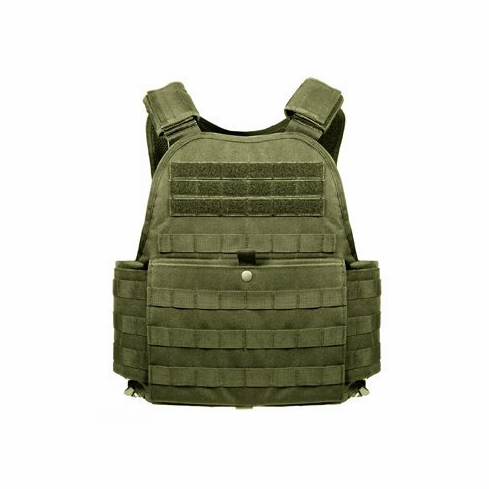 """Rothco Tactical OD Operator Plate Carrier With Molle and (2) 10 x 12"""" Certified AR500 NIJ Compliant Plates"""