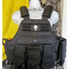 "Rothco Tactical Punisher Operator Plate Carrier, Molle and (2) 10"" x 12"" Certified AR500 NIJ Plates"