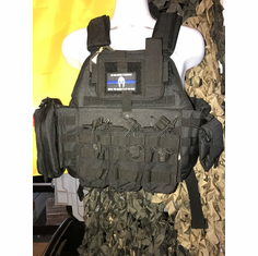 "Rothco Warrior (2) 10x12"" Comfort Curved Plates & Molle Shown"