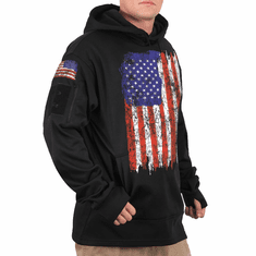TAC US Distressed Flag Conceal Carry Hoodie