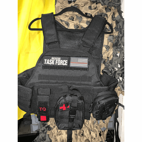 "Tactical Armor Concepts Rescue Task Force Plate Carrier & (2) 10"" x 12"" Certified Armor Plates"