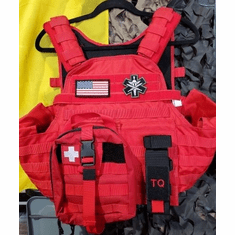"Tactical Armor Concepts Tactical Medic Plate Carrier & (2) 10"" x 12"" Certified Armor Plates"