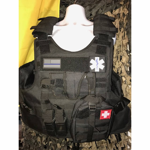 "Tactical Armor Concepts Tactical SWAT Medic QR Plate Carrier & (2) 10"" x 12"" Certified Armor Plates"