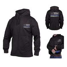 ** CLOSEOUT ** Tactical Armor Concepts Thin Blue Line Hoodie With Conceal Carry Pocket