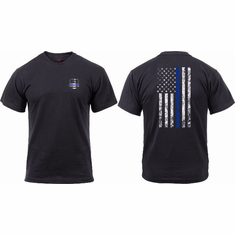 Tactical Armor Concepts Thin Blue Line Shield T Shirt