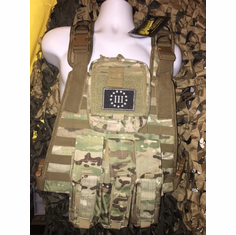 "Voodoo 3% AK Version Multicam ICE Plate Carrier With Molle and (2) 10 x 12"" Certified AR500 NIJ Compliant Plates"
