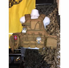 Voodoo Big Man 3xl to 5xl Plate Carrier & All Molle Shown