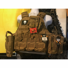 "Voodoo Coyote Plate Carrier & (2) 10x12"" AR500 Plates & Side Plates"