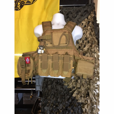 "Voodoo ""Big Man"" Plate Carrier 2XL-5XL & (2) 10x12"" AR500 Plates & 6x6"" Side Plates"
