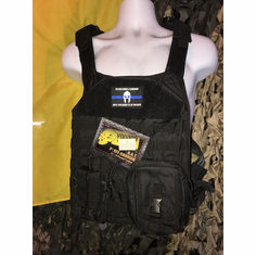 "Voodoo Black ""RAT"" Plate Carrier With TACO Kangaroo Molle and (2) 10 x 12"" Certified Ar500 Certified Compliant Plates"