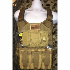 "Voodoo Coyote RAT Plate Carrier With Molle and (2) 10 x 12"" Certified AR500 NIJ Compliant Plates"