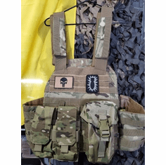 "Voodoo ""DA BOMB"" X-Lite Multicam Carrier & (2) 10""x12"" AR500 Comfort Curved Plates"
