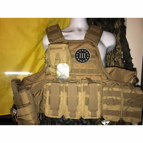 "Voodoo III% ""Big Man"" Plate Carrier 2XL-5XL & (2) 10x12"" AR500 Plates"