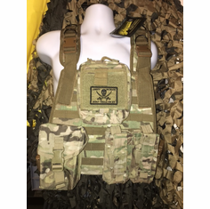"Voodoo Multicam Don't Tread On Me ICE Plate Carrier With Molle and (2) 10 x 12"" Certified AR500 NIJ Compliant Plates"