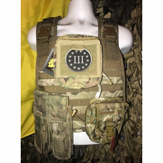 "Voodoo Multicam ICE Plate Carrier With AK Kangaroo Molle and (2) 10 x 12"" Certified Ar500 Certified Compliant Plates"