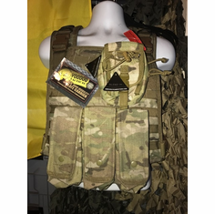 "Voodoo Multicam ICE Plate Carrier With Flap Mag Molle and (2) 10 x 12"" Certified AR500 NIJ Compliant Plates"
